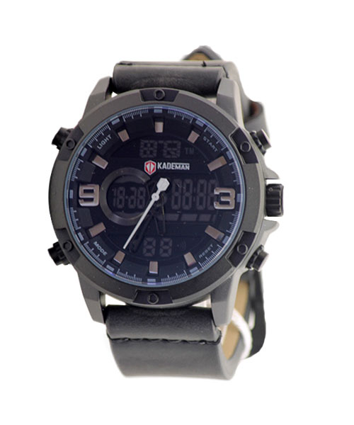 K009 Kademan water resistant dual display mens watches.