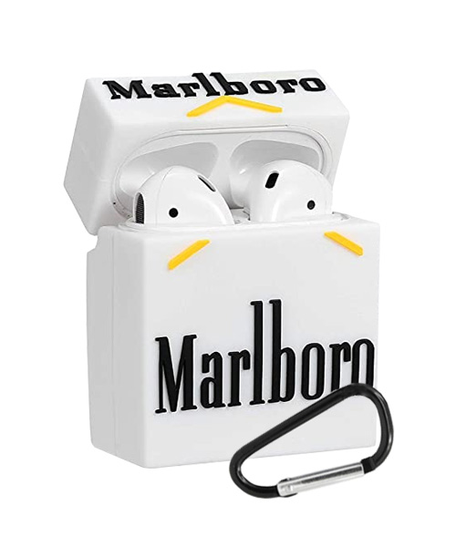 Marlboro Airpods 1 2 TWS i12 silicone case.