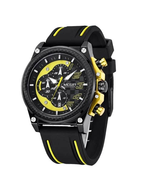 Megir 2051 chronograph mens wrist watch.