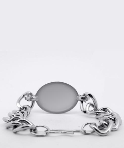 Silver Turquoise Bead Mens Bracelet.