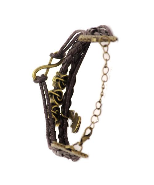 Musical Notes Guitar Multi-strand Braided Girls Bracelet.