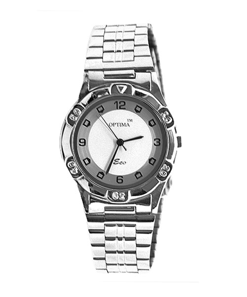 Classic silver men's watch.