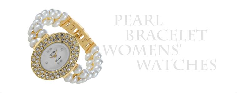 Pearl Bracelet Women Watches