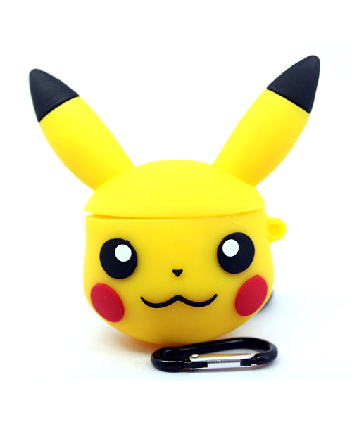 Pikachu yellow Airpod case with keychain.