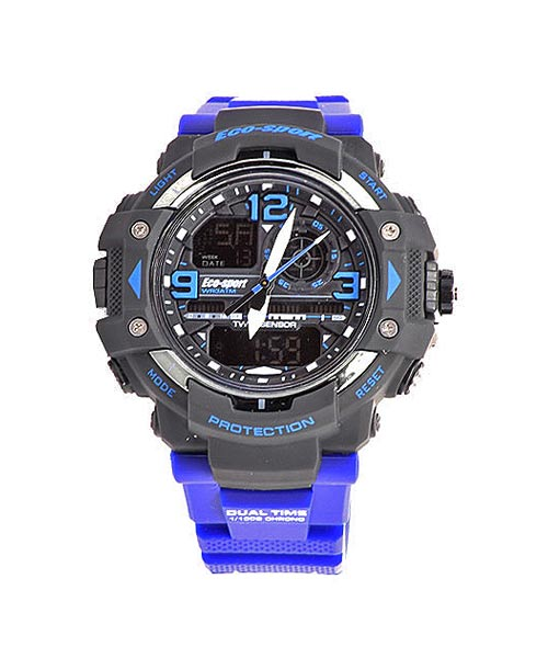 Mens sports watch blue strap.