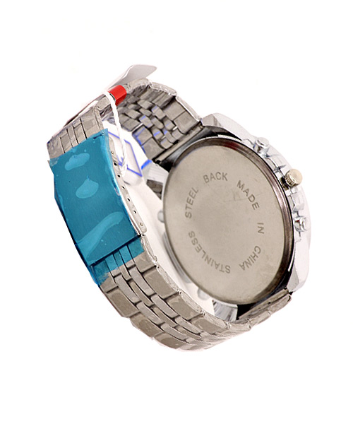 5 button steel watch for gents.