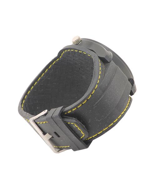 Double Silicon Strap All Black Sports Boys Wrist Watch.