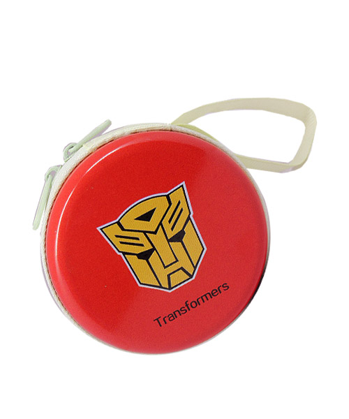 Transformer themed durable metal carry case.
