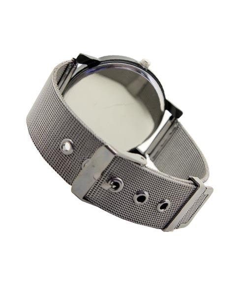 Designer round black mens watch.