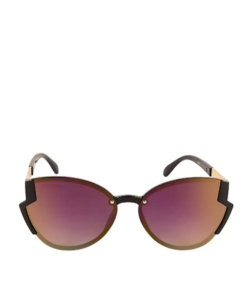 Buy mirrored Cateye women's sunglasses black gold.