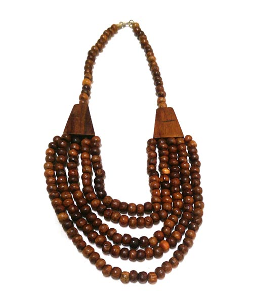 Wooden bead necklace designs Tibetan style.