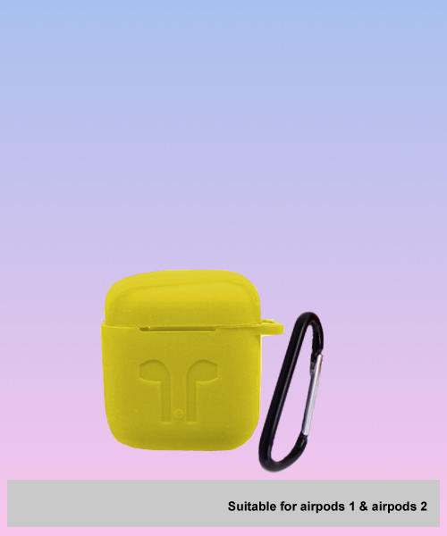 Attractive Apple Airpods soft case yellow.