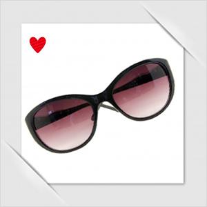Cat-eye singlasses for girls maroon lens black frame