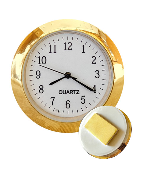 Round gold sticker watch clock