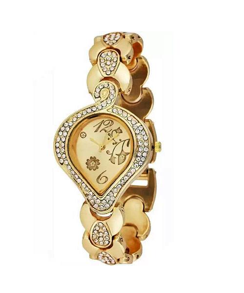 Buy gold leaf shape women watches online.