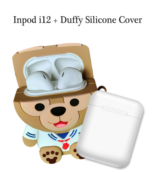 inPods 12 White With Duffy Silicone Case.