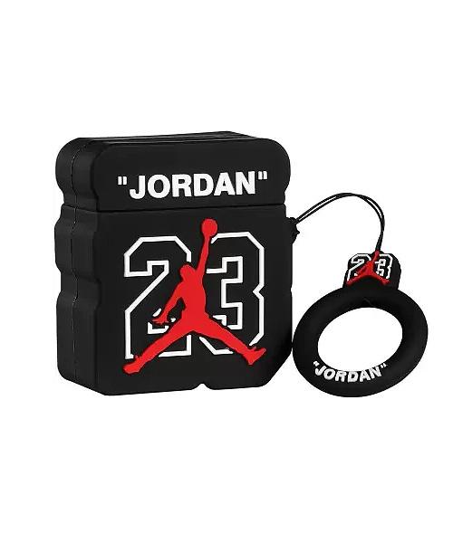 Jordan Black Airpod / inPods 12 Case with Carabiner.