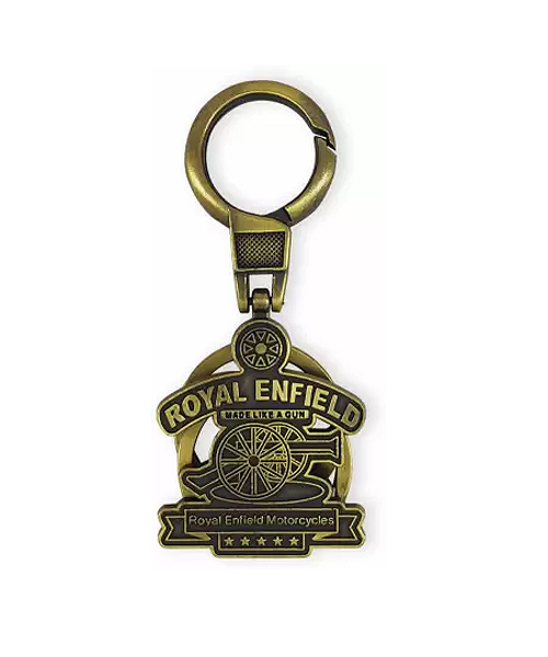 Bullet Enfield bronze alloy metal keychain holder.