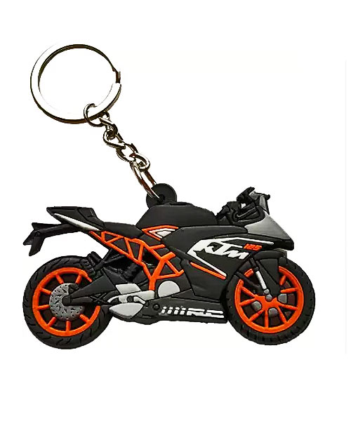 Doublesided KTM bike rubber key chain online.